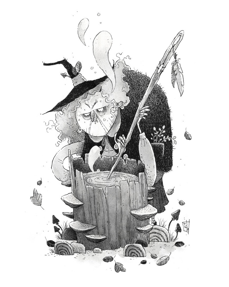 Inktober 03 – Witch