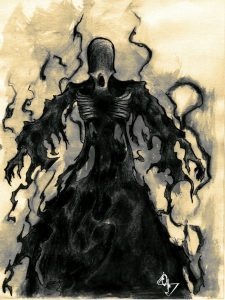 Drawing of a dementor.