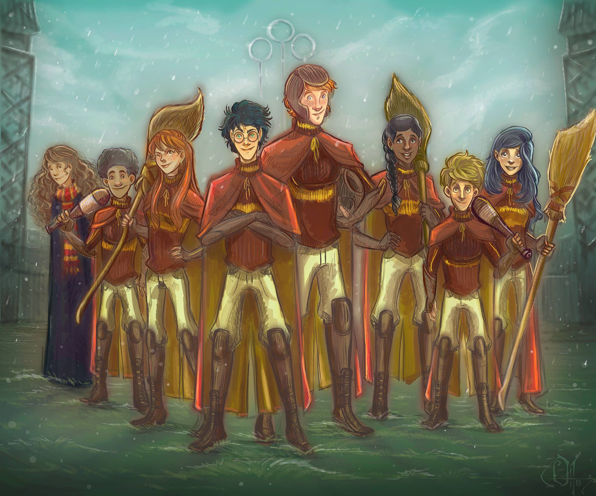 Gryffindor Quidditch Team, Year Six