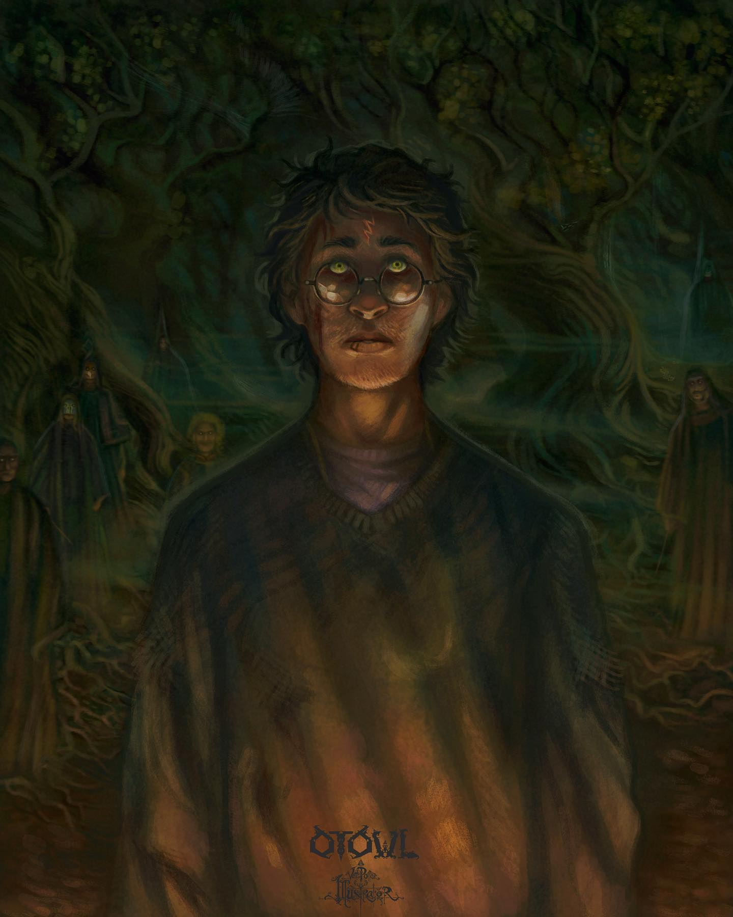 Harry Walks into the Forest