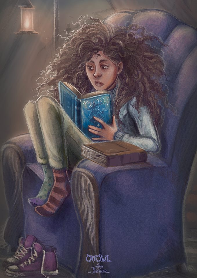 Hermione Reading Tales of Beedle the Bard
