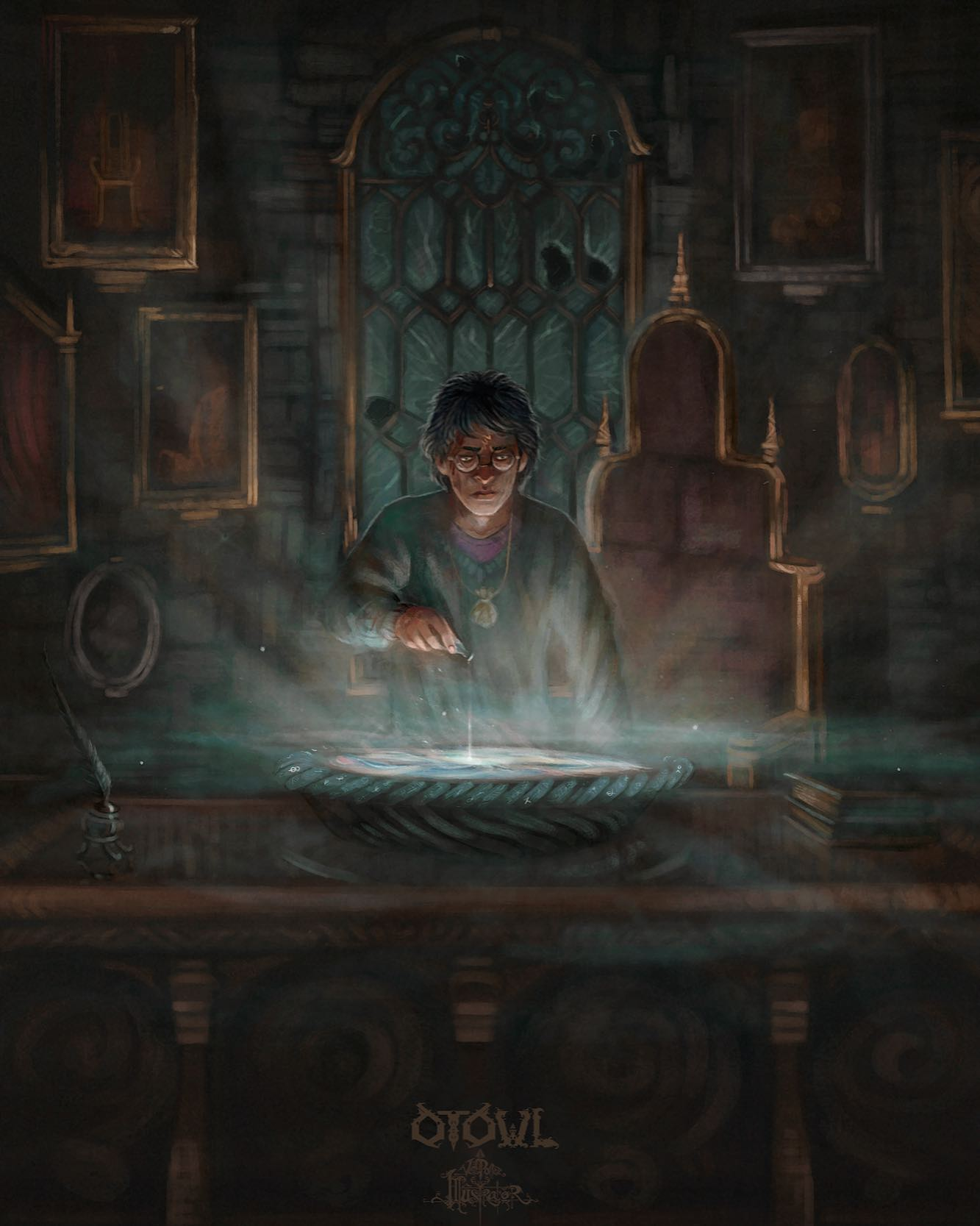 Pouring Snape's Memories Pensieve
