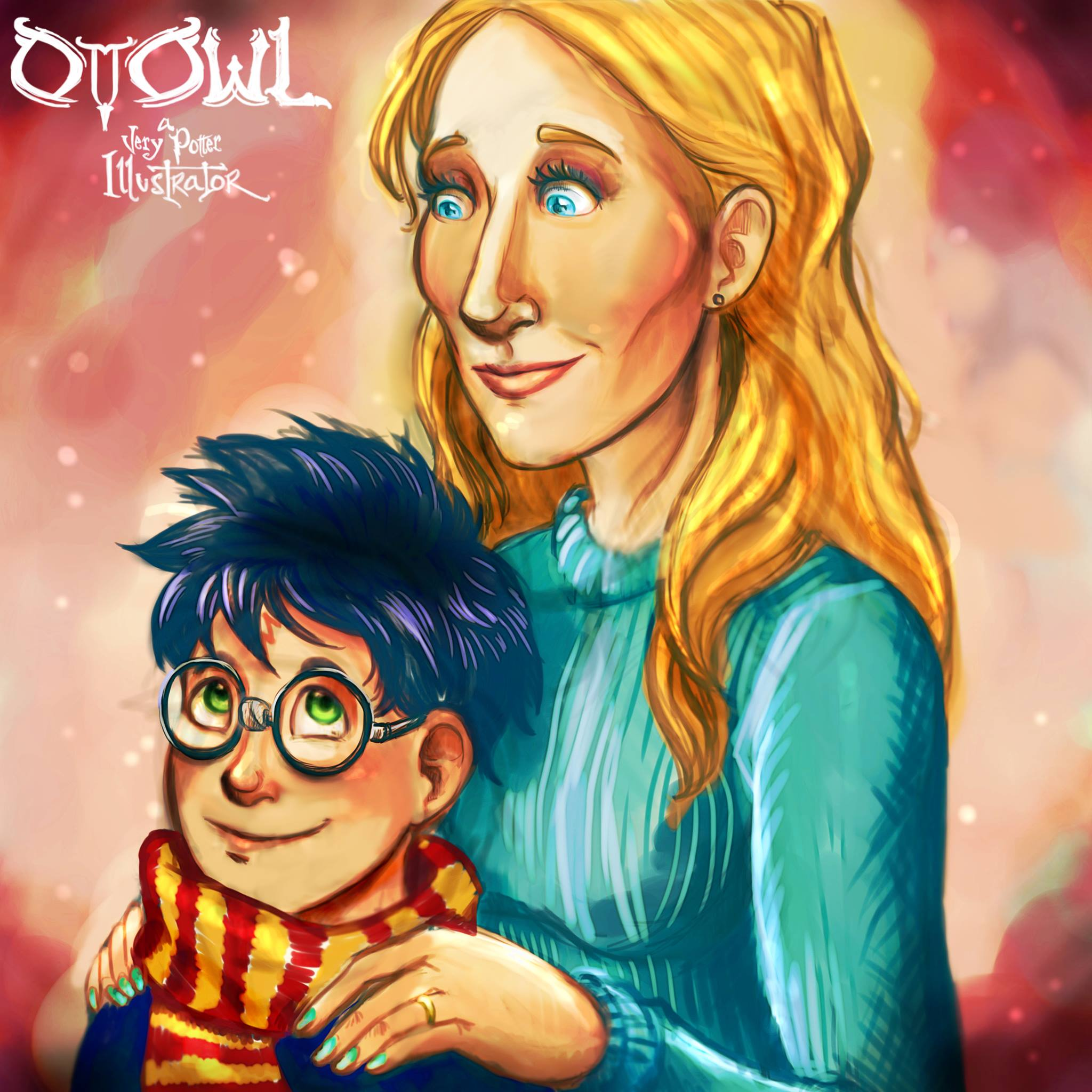 rowling-and-harry-ottowl