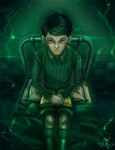 Young Tom Riddle in the orphanage.