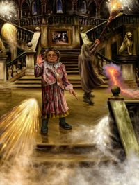 Fred and George set off an entire crate of fireworks