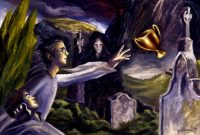 Harry escapes the Little Hangleton graveyard by portkey