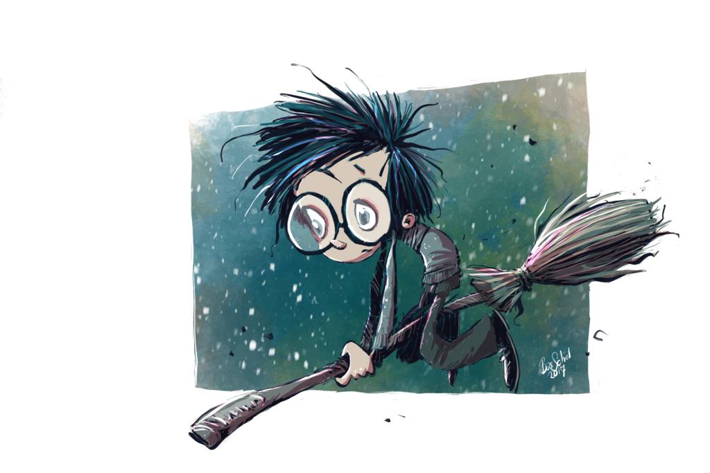 Harry on his Nimbus