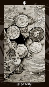 Purse full of wizarding coins.