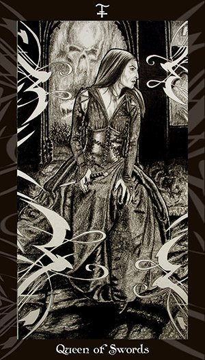 HP Tarot – Queen of Swords