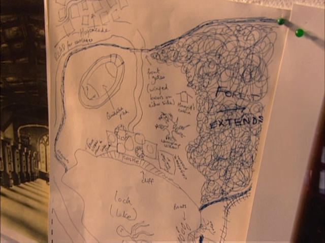 JKR's Sketch of the Castle and Environs