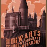 Travel poster for Hogwarts.