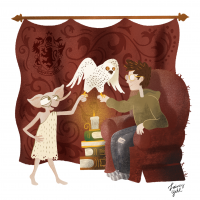 Dobby returns Hedwig to Harry