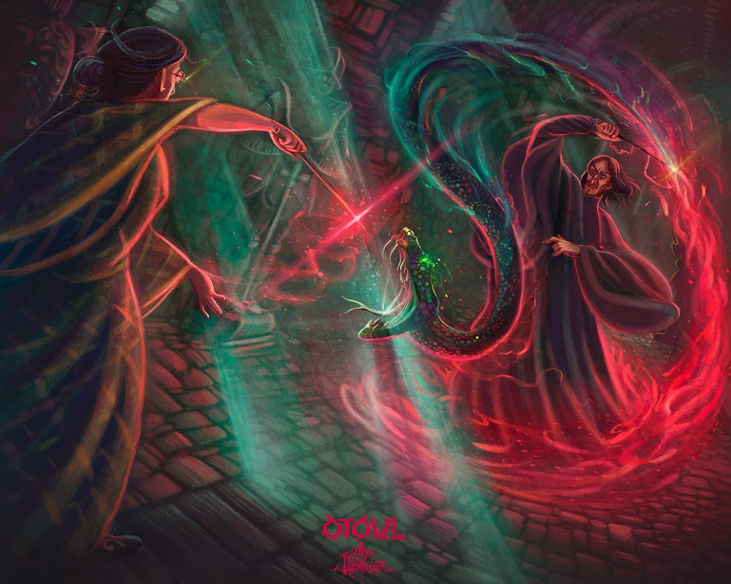 Snape and McGonnagal Duel