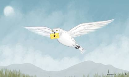 hedwig_carrying_letter_by_louisetheanimator_d9sow0b-250t