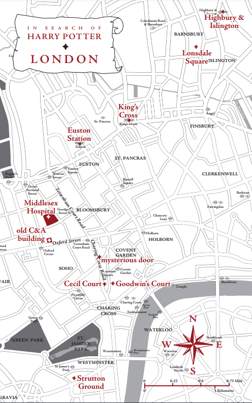 London Map – In Search of Harry Potter